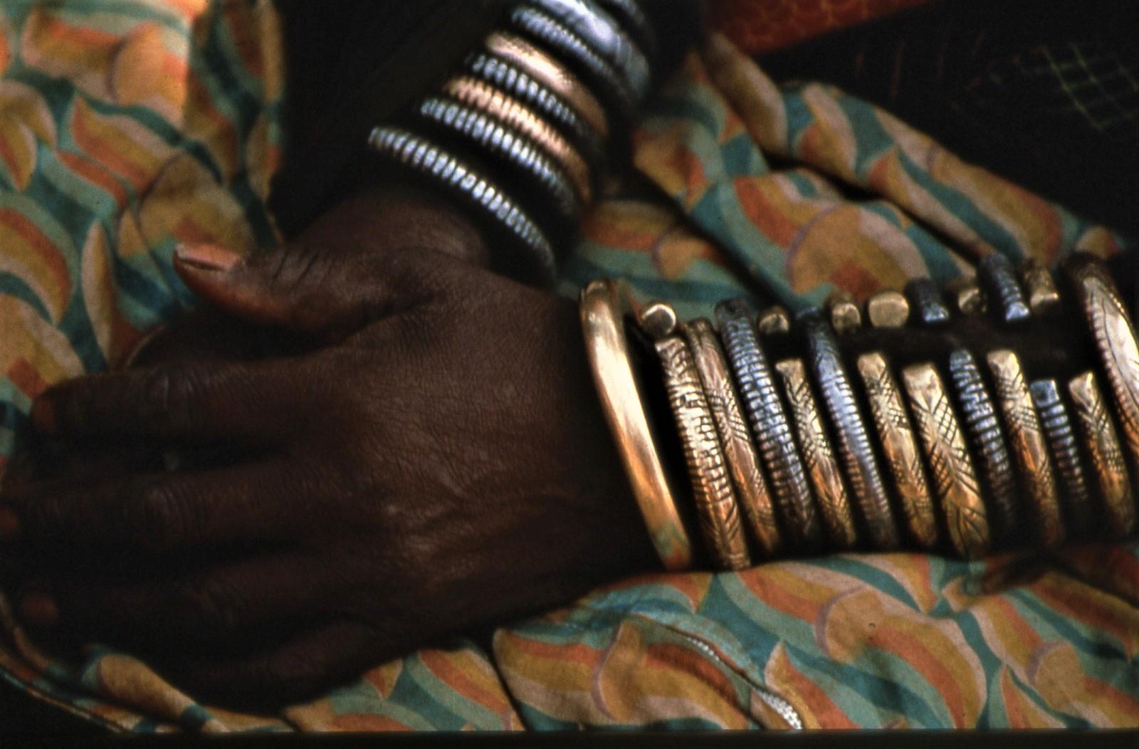 Barabaig woman with bangles