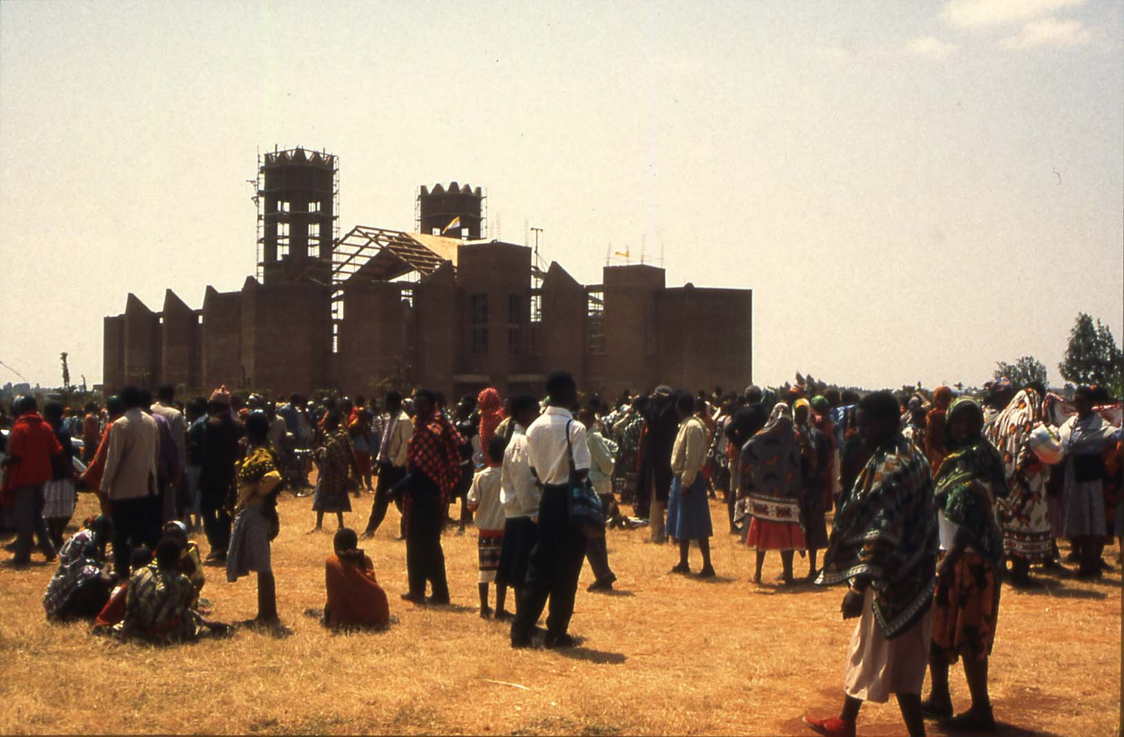 The building of the new cathedral, the 4th largest in Africa