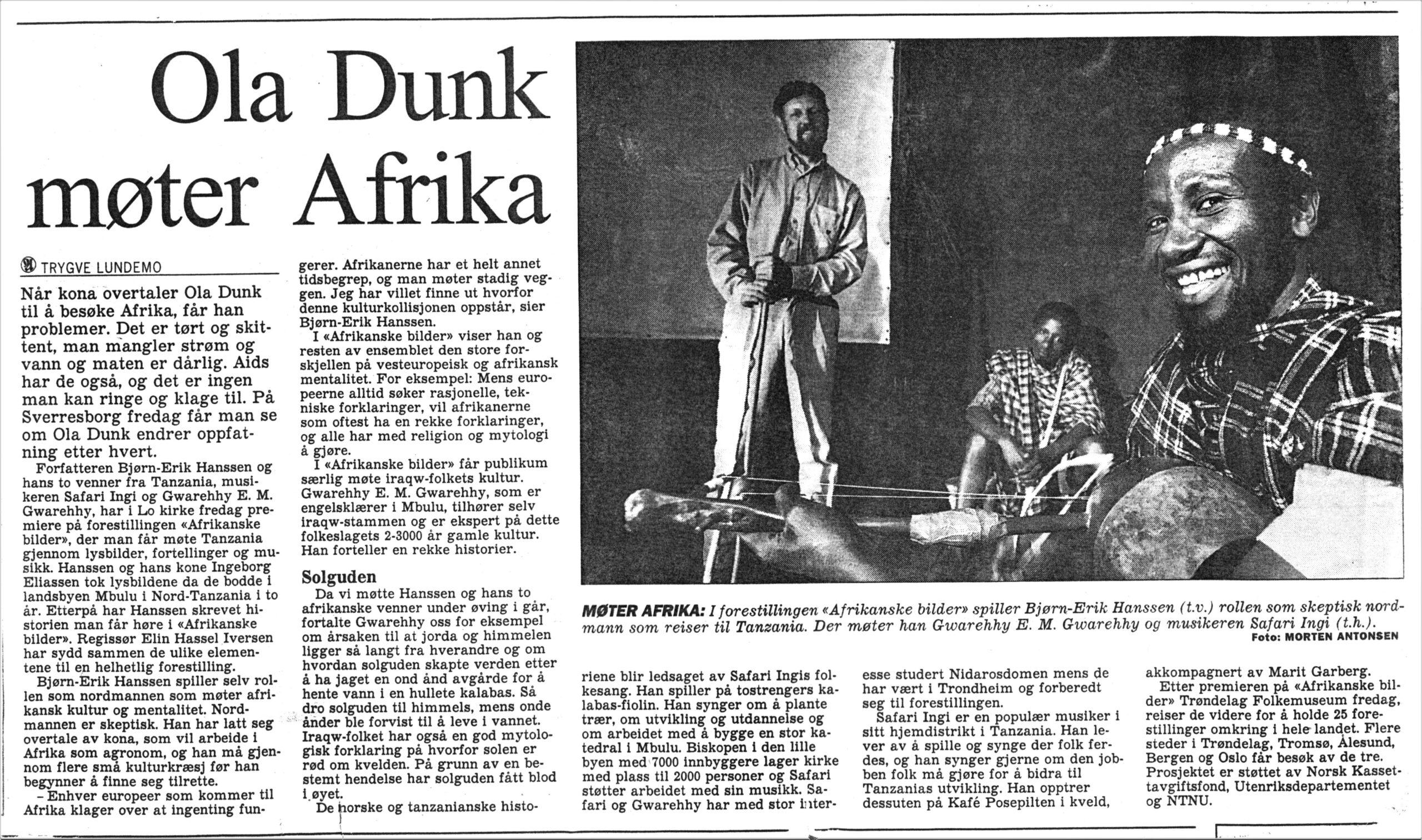Ola Dunk møter Afrika (2)
