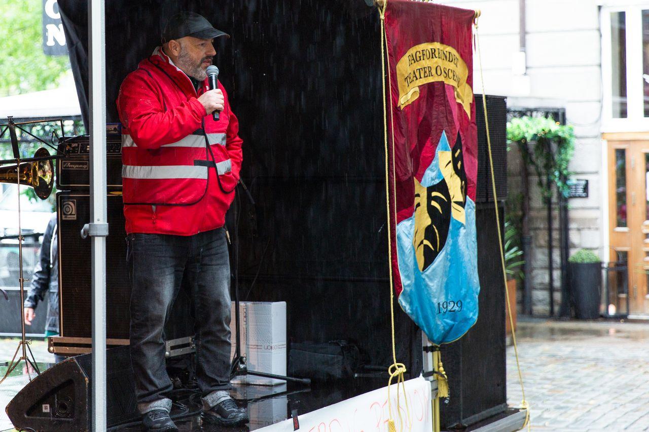 Streikeleder: Vi går ikke for noe forlik, sier streikeleder Mikael Gullikstad.